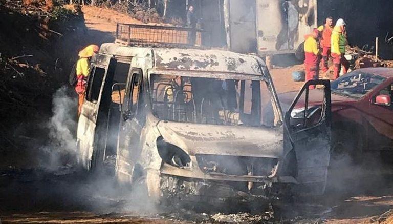 Ataque incendiario en Cañete: siete máquinas de empresa forestal fueron destruidas