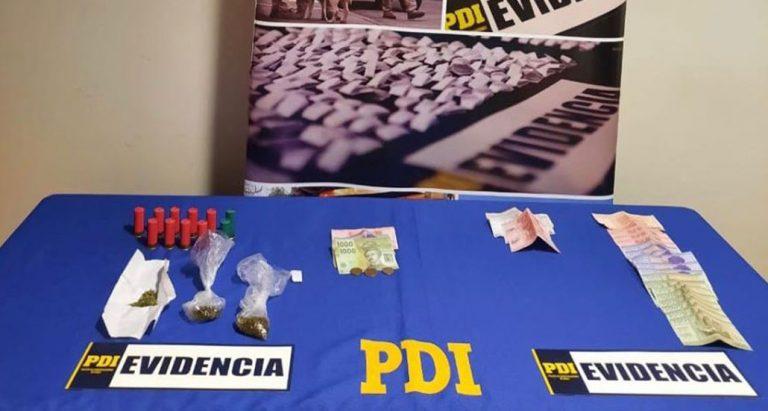 Operativos PDI en Los Ángeles y Cabrero: cuatro detenidos tras descubrir drogas y municiones