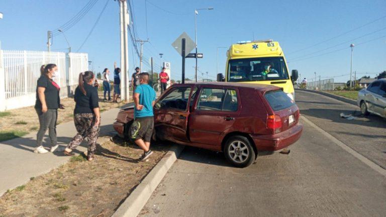 Los Ángeles: Un lesionado deja colisión en avenida Padre Hurtado