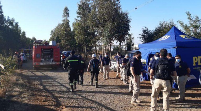 Mulchén: PDI y Bomberos continúan búsqueda de joven perdido hace más de una semana