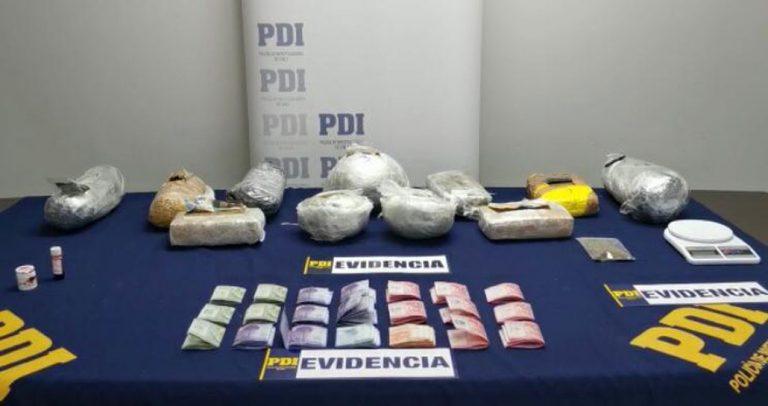 PDI desbarata banda criminal que traficaba en Concepción: droga incautada supera los 70 millones