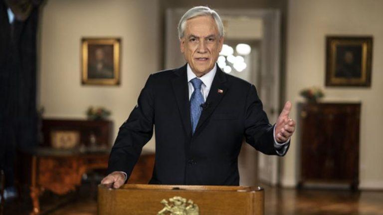 Piñera solicitó nueva extensión del Estado de Catástrofe: medida está cerca de cumplir un año