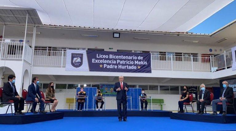 Presidente Piñera y el regreso progresivo a clases presenciales: «Tenemos un deber moral»