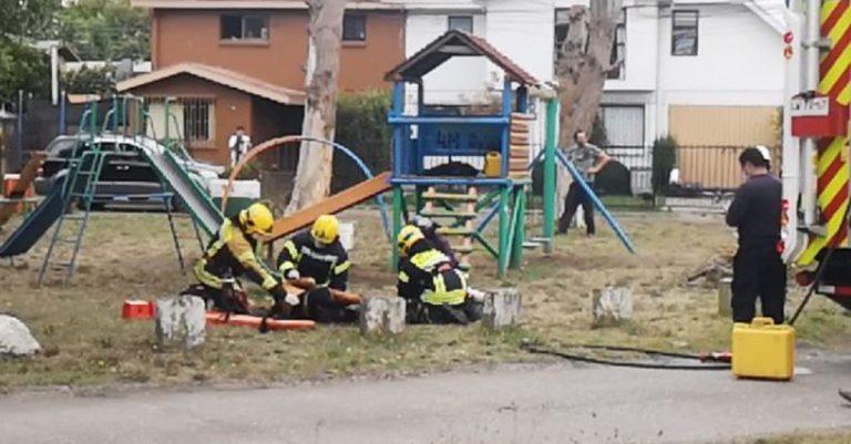 Hombre falleció tras quemarse a lo bonzo en una plaza de San Pedro de la Paz
