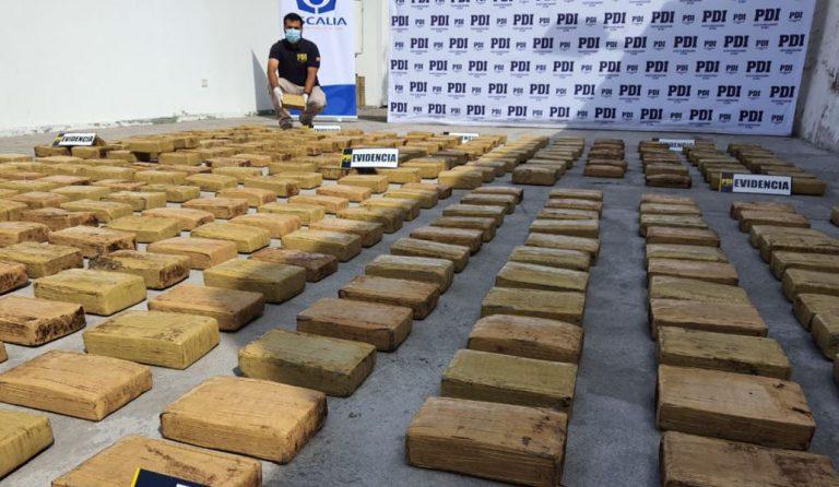 Cae banda criminal que operaba en el norte y en Santiago: droga incautada supera los 2 mil millones