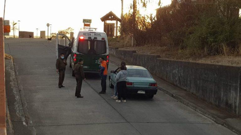 Yumbel: 5 personas se dan a la fuga por no portar permisos