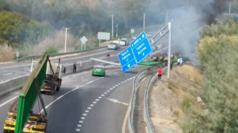 Impactante accidente de camión en Yumbel deja un muerto