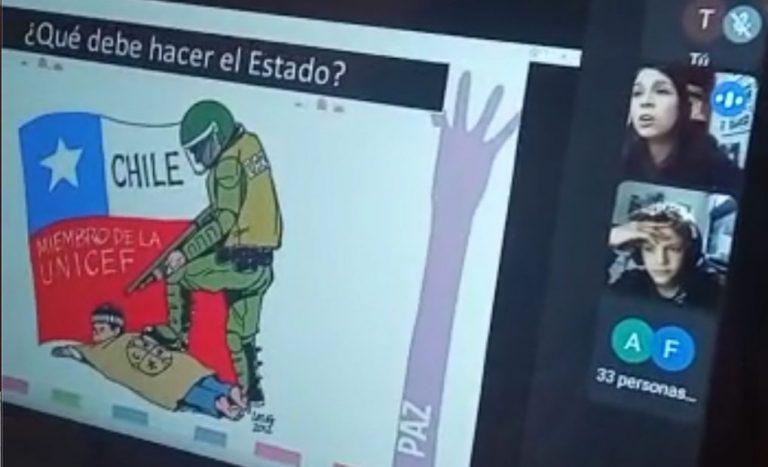 Polémica por profesora en clase on line: «A la hija de Catrillanca la pusieron así tal cual»