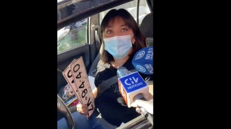 Enfermera es detenida por sacarle la patente al auto para no pagar el TAG