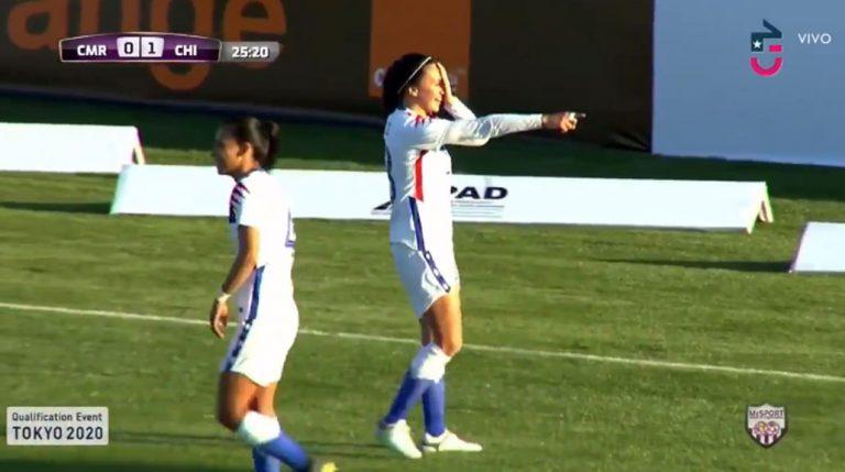 Camila Sáez celebró gol ante Camerún con sentido homenaje: recordó a víctimas de trauma ocular