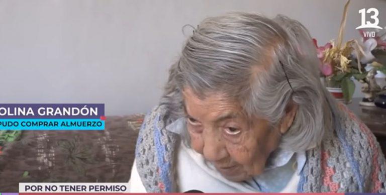 El sentido descargo de mujer de 100 años que le negaron ingreso a supermercado: «Yo no sé donde ir»