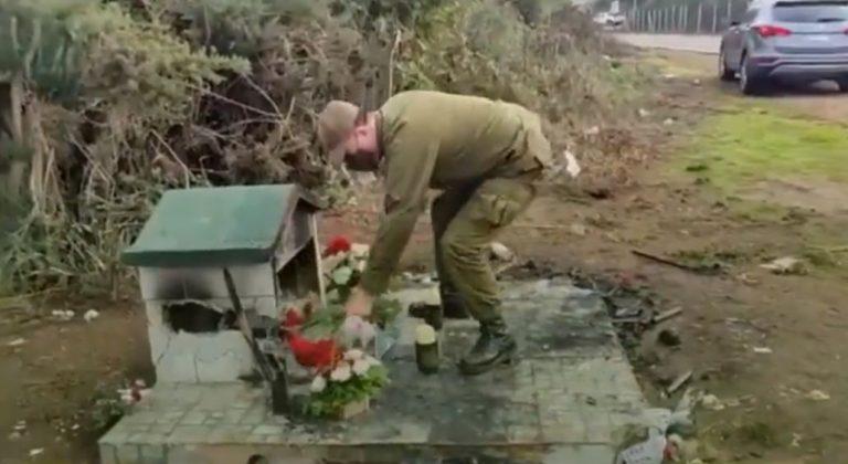 «No han dañado el alma de Carabineros»: repudio causa destrucción de la animita del cabo Nain