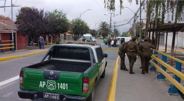 Delincuente es abatido por carabinero: había robado a camión de Chile Tabacos con 3 sujetos más
