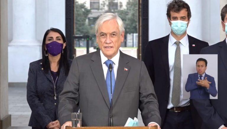 «Juré respetar la Constitución»: Piñera anuncia que este martes promulgará el Tercer Retiro del 10%