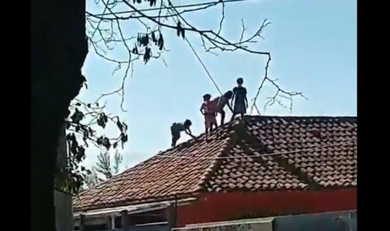 Menores que escaparon del Sename protestan en el techo del hogar: denuncian agresiones