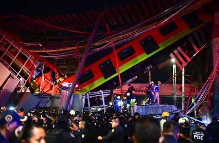 Se desplomó un metro en México: van por lo menos 23 muertos y decenas de heridos