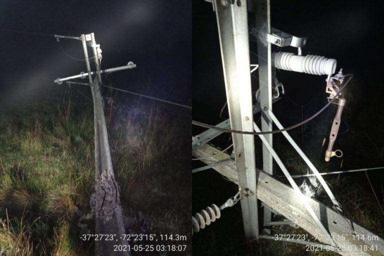 5.200 clientes quedan sin luz por robo de cables en Los Ángeles