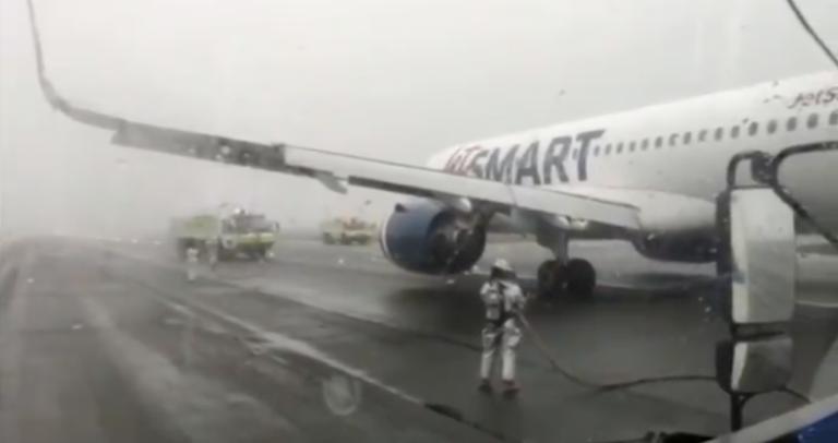 Turbina de avión explotó en Carriel Sur antes del despegue