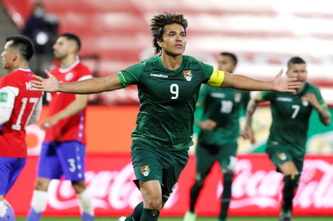 Bolivia no jugó a nada y logró empatarle a Chile