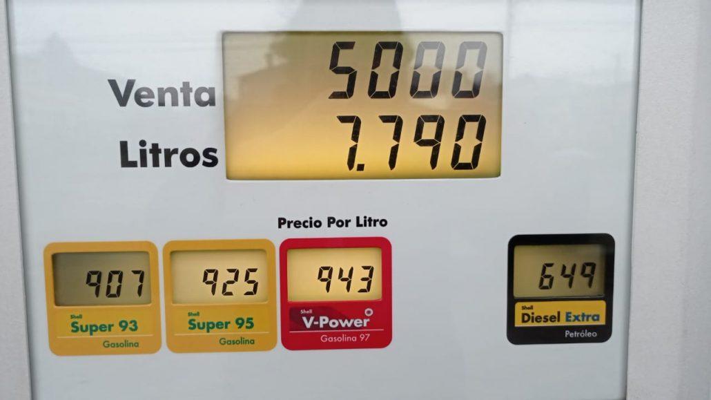 alza en los combustibles