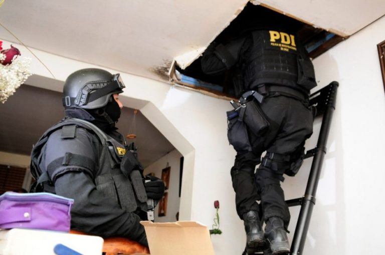 PDI captura a clan familiar de venta de drogas en Santa Bárbara