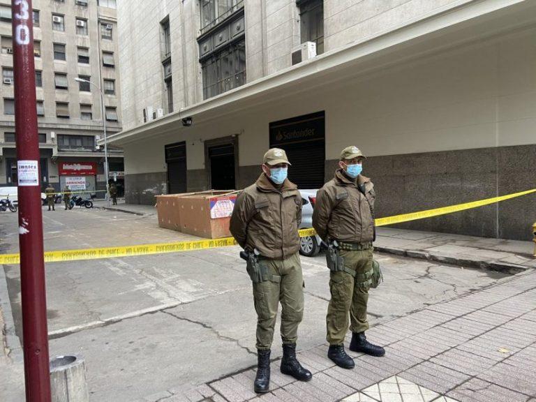 Encuentran cuerpo calcinado en pleno centro de Santiago