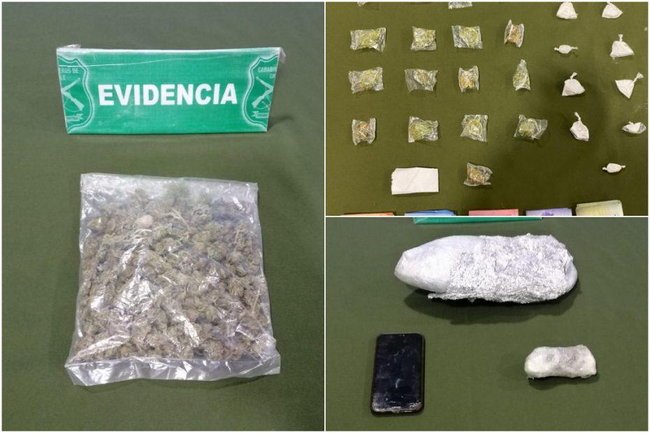 Dos procedimientos en Paillihue y Las Maicas terminaron con dos detenidos con drogas.
