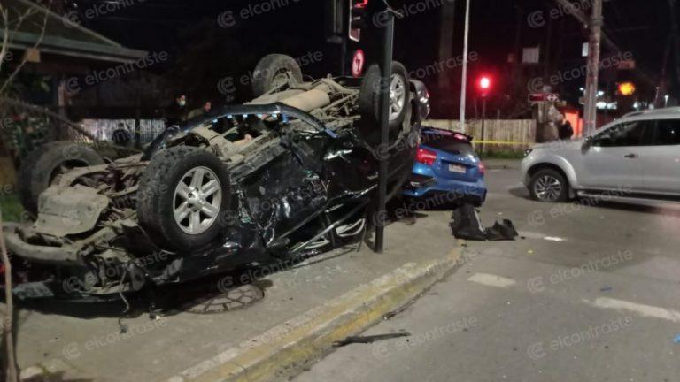 SIAT y PDI investigan balacera con accidente ocurrido en Los Ángeles