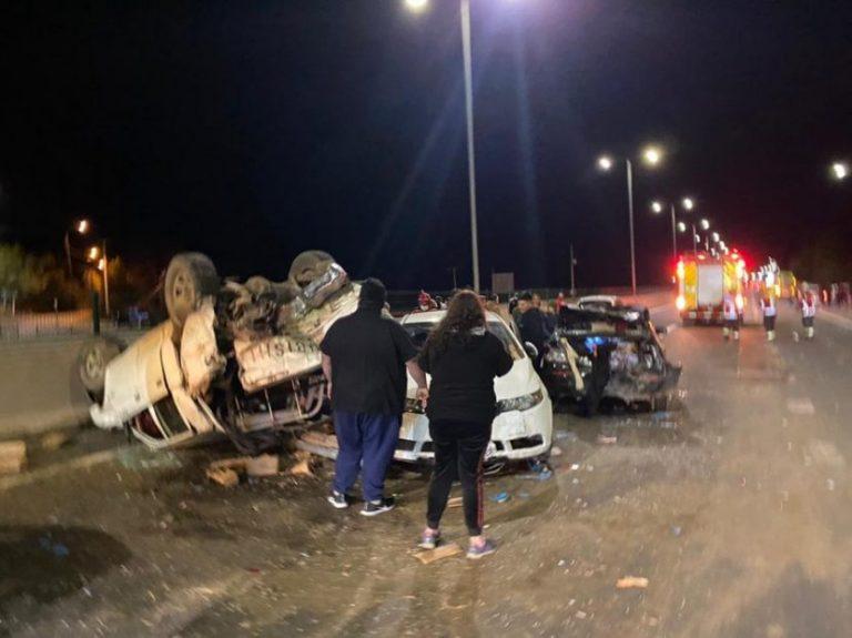 Brutal accidente en la ruta Concepción – Cabrero: Al menos 10 heridos