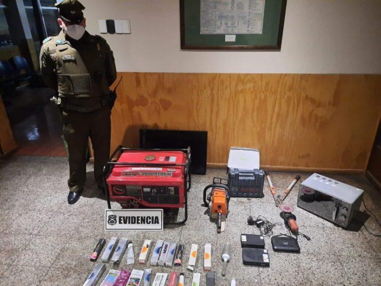 Detienen a delincuente que protagonizó tres robos a viviendas en Mulchén