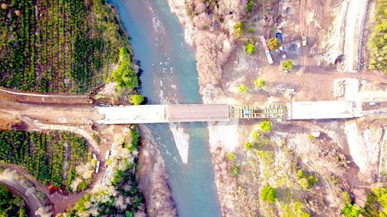 Obras del nuevo puente Duqueco muestran un 75% de avance