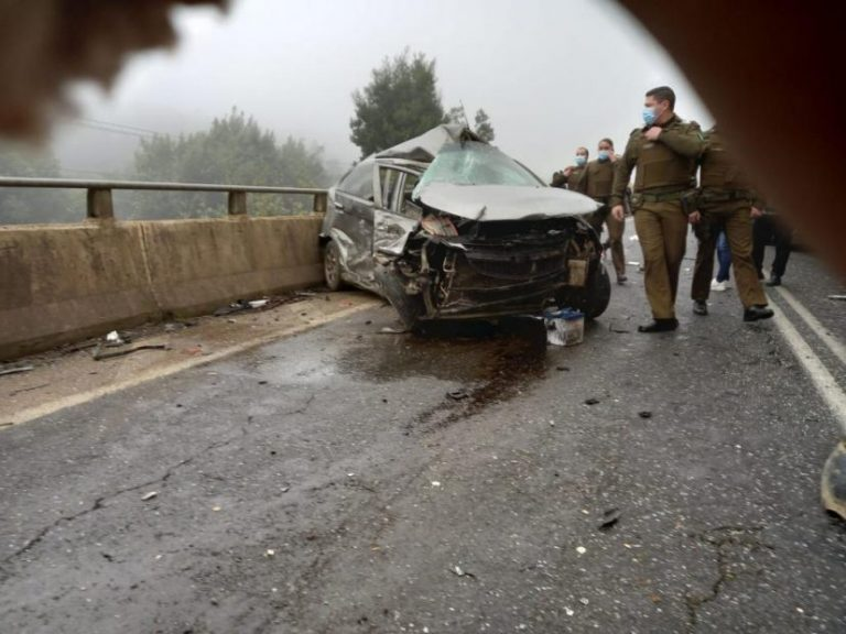 Un muerto y tres heridos deja accidente en la ruta Angol – Los Sauces