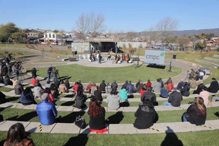 Biobío cuenta con un nuevo parque urbano para vecinos de Nacimiento