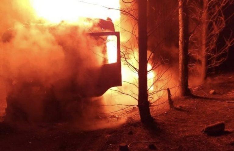 Atentado incendiario termina con 7 maquinarias destruidas en Quilleco