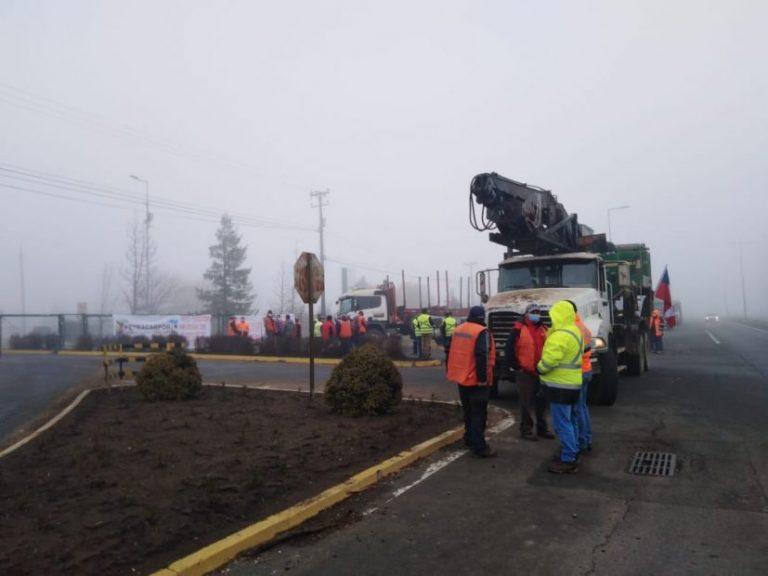Transportistas bloquean acceso a la Planta Santa Fe: «No tenemos seguridad»