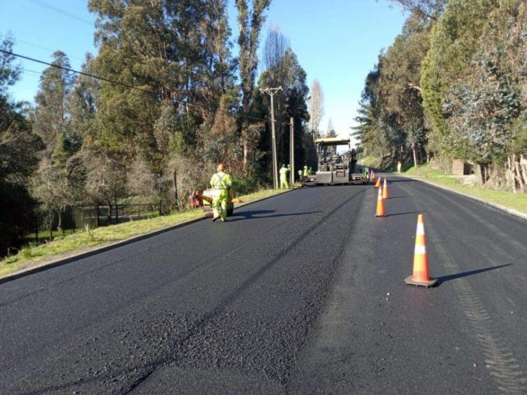 MOP ejecuta millonaria inversión para mejorar la Ruta de la Madera