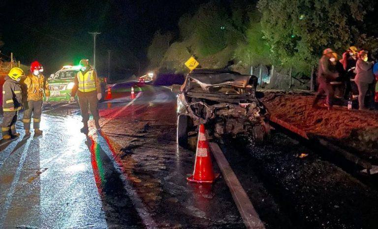 Un muerto y 4 heridos de gravedad deja accidente camino a Ralco
