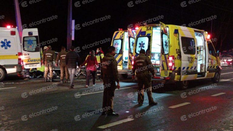 Conductor que protagonizó accidente en avenida Las Industrias iba con droga y armas