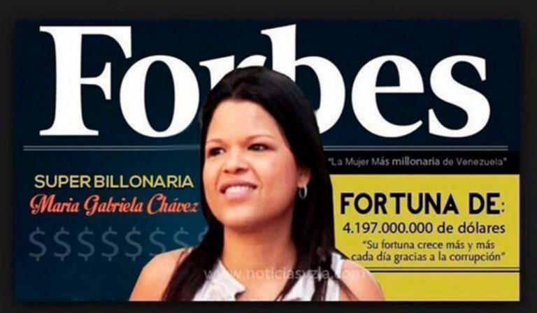 Hija de Hugo Chávez aparece en la lista Forbes: Fortuna supera los US$3.600 millones