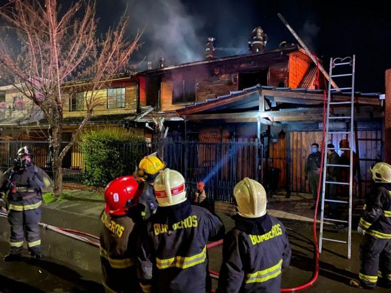 Dueño de casa muere en voraz incendio en villa Galilea de Los Ángeles