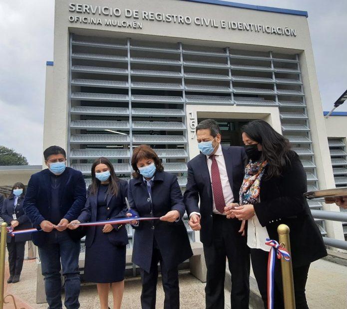 Inauguran nueva oficina del Registro Civil en Mulchén