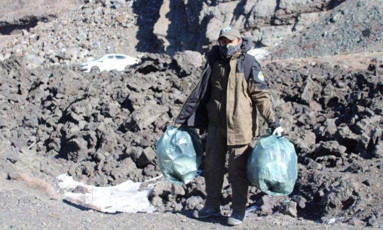 No sigas el ejemplo: inconscientes dejan toneladas de basura en el Parque Nacional Laguna del Laja