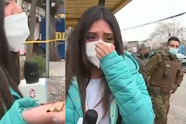 Periodista de CHV tras homicidio recogió casquillos: Carabinero la increpó