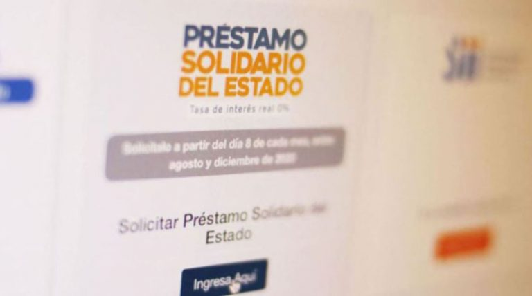 Préstamo Solidario de hasta 650 mil pesos: postula aquí al beneficio de tasa interés real 0