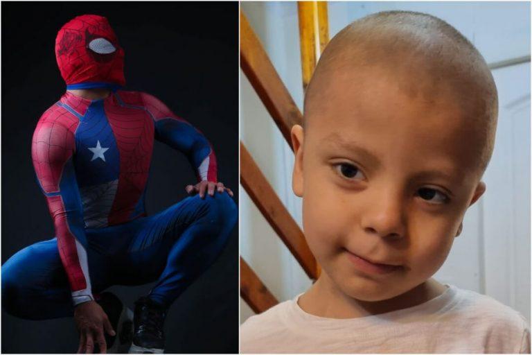 Sensual Spiderman llega a Laja para ayudar en la cruzada por Gabrielito