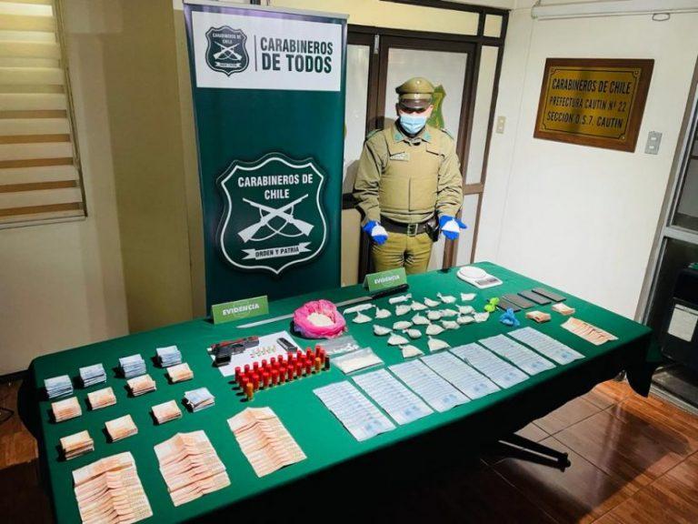 OS7 desbarata clan de tráfico de drogas en Angol y Los Ángeles