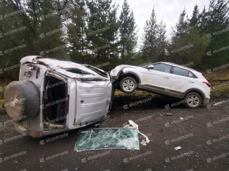 Conductores salvan de milagro tras violenta triple colisión en Quilleco