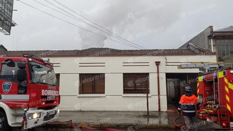 Amago de incendio afectó a una vivienda en calle Valdivia de Los Ángeles