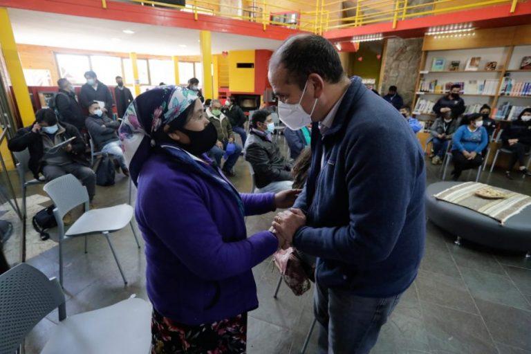 Gobernador Díaz se reúne con comunidades pehuenches de Alto Biobío