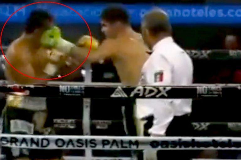 Video   Boxeador mexicano sufre brutal knockout: fue retirado en ambulancia